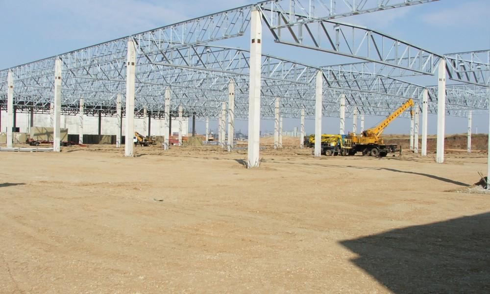 steel building pirelli slatina romania